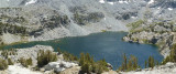 Pano view of Big McGee Lake.