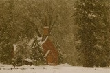 Snowfall, Yosemite Chapel