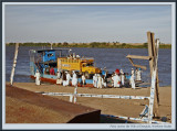 Ferry across the Nile river