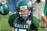 Carter's first tackle football game