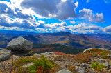 view from southern moat mtn, conway, nh