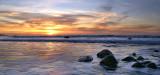 Sunset Surf at Widemouth Bay