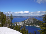 Crater Lake Land and Water Scape