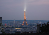 Eiffel Tower at Night from Monmartre