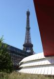 Eiffel Tower from Quai Branly Museum, Paris