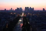 Arc de Triomphe Towards La Defense at Sunset