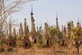 066 - Forest of weatherbeaten stupas at Indein