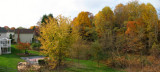Panorama - Our backyard at the end of Fall