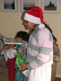 Angie Claus gets her own gifts