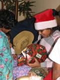 Santa Angie gets a gift