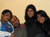 With his girls