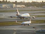 BA 747 headed for takeoff
