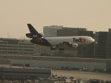 FedEx MD-11 close to landing