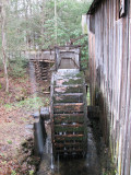 The water wheel that drives the mill