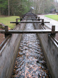 The flume that feeds the water wheel from Mill Creek