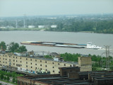 Barge traffic on the Mississippi