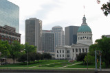 The old St Louis County Courthouse and surroundings