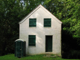 Lockhouse for Lock 28 with portapotty