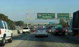 Stuck in LA traffic