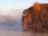 The morning sun and mist