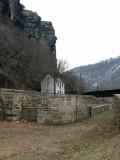Maryland Heights behind Lock 33