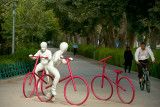White cyclists - Esfahan