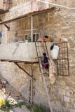 Climbing stairs - Jerusalem