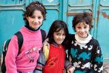 Three happy girls - Nablus
