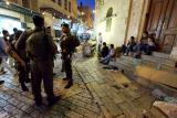 Israeli soldiers and Palestinians - Jerusalem