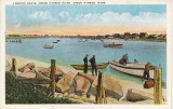 Lobstah Boats, Green Harbor River - Postmark 1932