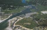 Green Harbor Chrome Postcard Aerial View