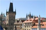 mala strana bridge tower to st vitus cathedral