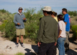 Dr. Bill Walker gives a tour of the Kipp site to archaeology students from UNLV