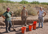 Amanda Catalano, Sean Dolan, Kristin Morehead (Archaeology field school)