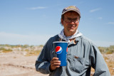 Dr. Bill Walker lectures students on the importance of keeping well hydrated while in the field