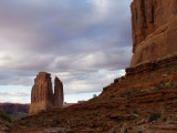 Arches NP --Park Avenue Courthouse Tower view