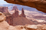 Canyonlands -- looking through Mesa arch