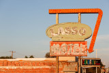 Route 66 in Tucumcari, NM -- famous for its historic neon signs
