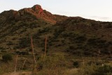 Sunset on Organ Mountains from Soledad (Barr) Canyon Trail