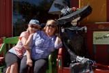 Margie Arnett with MC in Silver City, NM