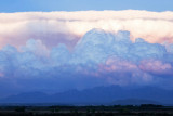 Storm brewing at sunset over Organ Mountains