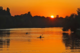 Sunset at Skaryszewski Park