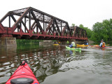 Railroad Bridge and KayakersJune 3, 2009