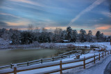 Snowy Park Near Sunset in HDRJanuary 8, 2011