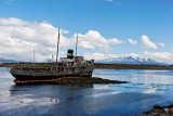The St. Christopher aground in Ushuaia Bay