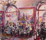 Ragazze al Caffé Greco, by Stellario Baccellieri, 2009