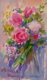 Fiori gialli e rose, by Stellario Baccellieri, 2009