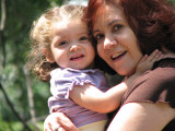 Pretty Sofía with her Red Haired Grandma