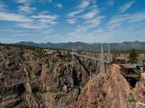 World's Highest Suspension Bridge 1,053 feet above the Arkansas RiverI walked across!