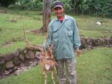 His pet deer